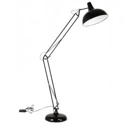 Adjustable and large format floor lamp with industrial look PIC (BLACK)