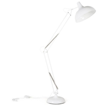 Adjustable and large format floor lamp with industrial look PIC (WHITE)
