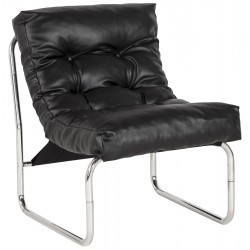 Padded and comfortable BLACK armchair BOUDOIR