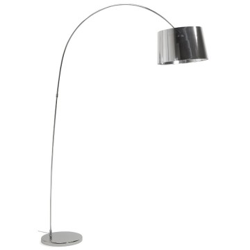Arched floor lamp with industrial look PILLAR (CHROME)