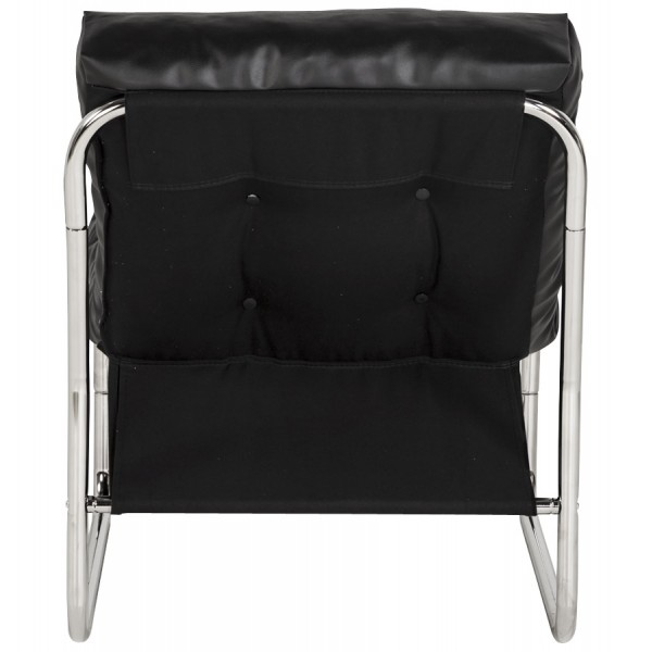 ... Black Armchair With Chrome Metal Structure ...