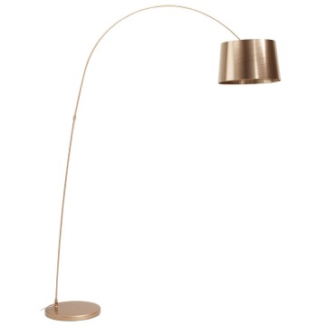 Arched COPPERY floor lamp with industrial look PILLAR