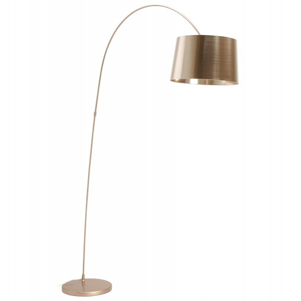 metal coppery arched floor lamp pillar