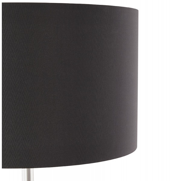 Designer floor lamp with floor switch winona black vistadeco designer black floor lamp with fabric shade and brushed metal foot winona mozeypictures Gallery