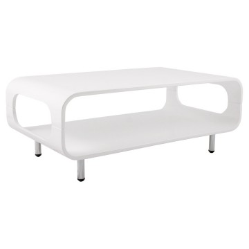 Design WHITE coffee table with two trays SEVENTY