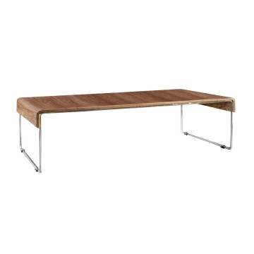 ART-DECO coffee table with walnut veneer HORTA