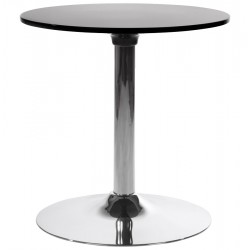 Table basse ronde NOIRE style tulipe MARS