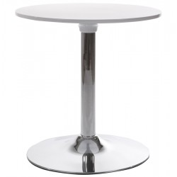 Round coffee table tulip style MARS (WHITE)