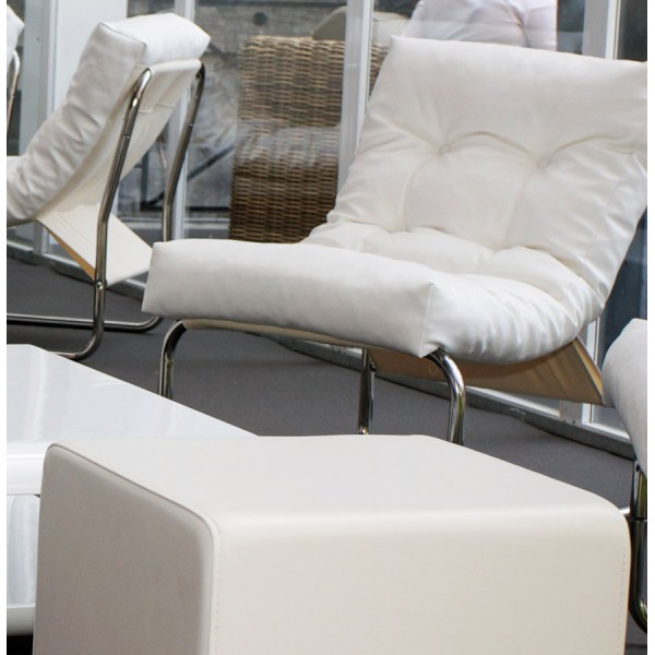 Padded and comfortable WHITE armchair BOUDOIR