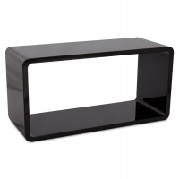 Stackable black designed rectangle for coffee table, shelf, extra furniture ... RECTO