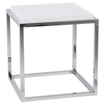 WHITE storage cube or side table KVADRA