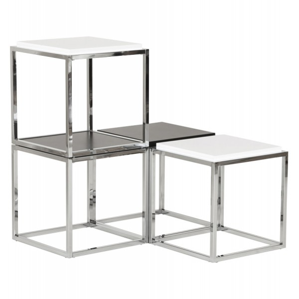 Coffee Table With Storage Cubes.Storage Cube Or Side Table Kvadra White