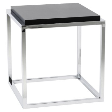 BLACK storage cube or side table KVADRA