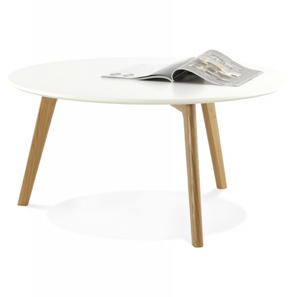 ... Scandinavian Design Round Coffee Table With Oak Legs And Wooden MDF Top  KINGSTON ...