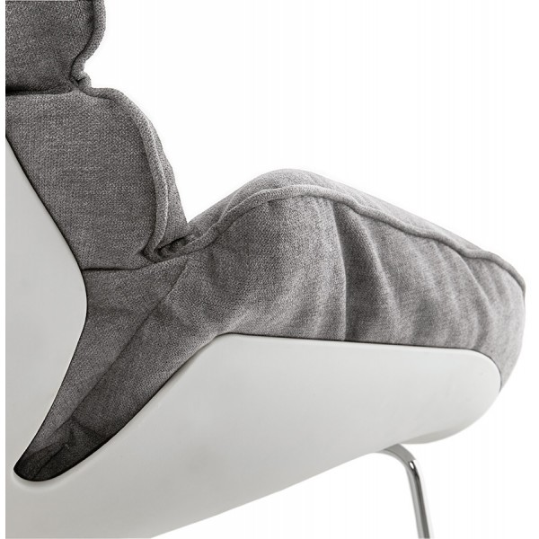 fauteuil bascule tr s confortable polochon gris clair vistadeco. Black Bedroom Furniture Sets. Home Design Ideas