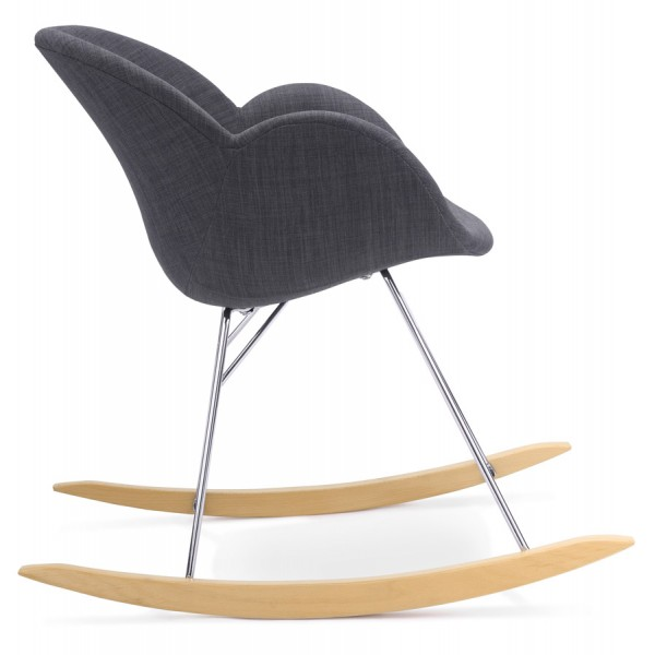 ... Dark gray rocking chair with solid propylene shell and solid beech wood legs TOOGLE ...  sc 1 st  Vistadeco & Comfortable rocking chair TOGGLE (DARK GRAY) - Vistadeco