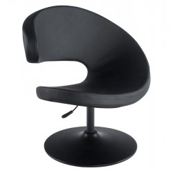 Rotating and adjustable BLACK armchair MARRAZO