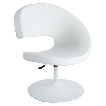 Rotating and adjustable armchair MARRAZO (WHITE)