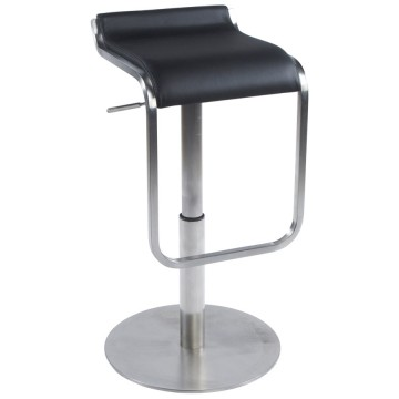 Very comfortable and resistant BLACK bar stool MODENA
