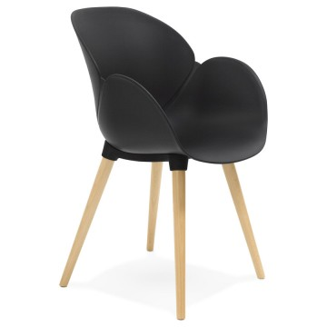 Black trendy chair with Scandinavian design SITWEL