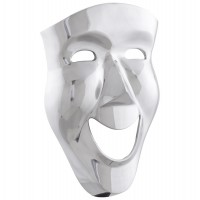 Beautiful wall mask in polished aluminium MUTLU