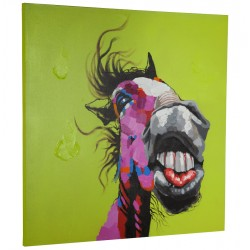 Humorous horse canvas JUMPER