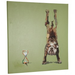 Canvas representing a bulldog DOGGY