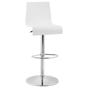 Modern WHITE bar stool SANTANA