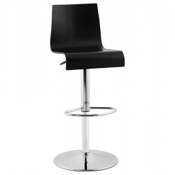 Sober and refined bar stool SANTANA (BLACK)