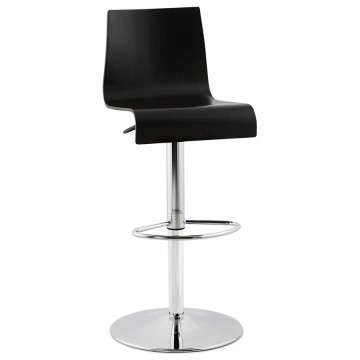 Sober and refined BLACK bar stool SANTANA
