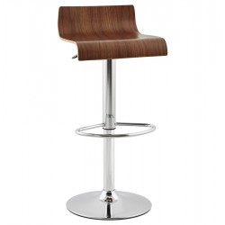 Simple and elegant bar stool VALNOT (WALLNUT)