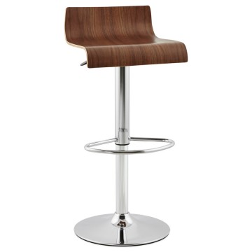 Simple and elegant WALLNUT bar stool VALNOT