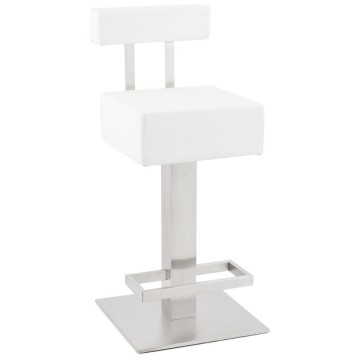 Tabouret de bar BLANC fixe et design NOBLE MINI