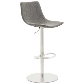 Adjustable and swivel bar stool LOMAK (GREY)