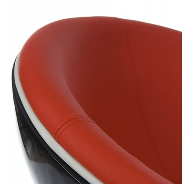 ... Design And Rotating Black And Red Armchair With Red Imitation Leather  Seat ...