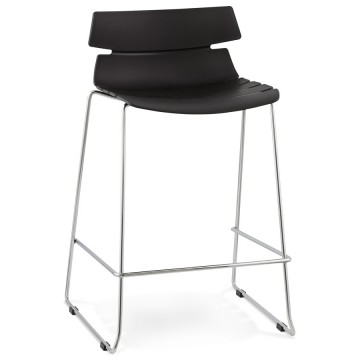 Tabouret de bar NOIR solide, au look hors du commun RENY SMALL