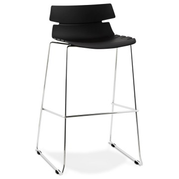 Strong BLACK barstool with an unusual look RENY