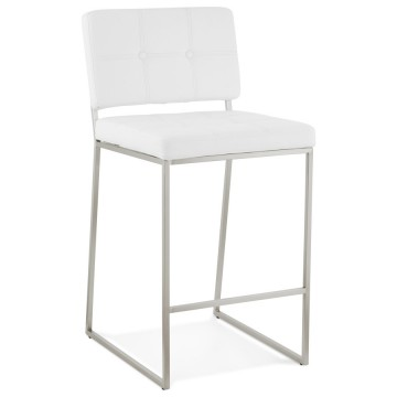 Padded WHITE barstool with retro chic design DOD