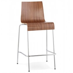 Stacking WALLNUT barstool small format version COBE