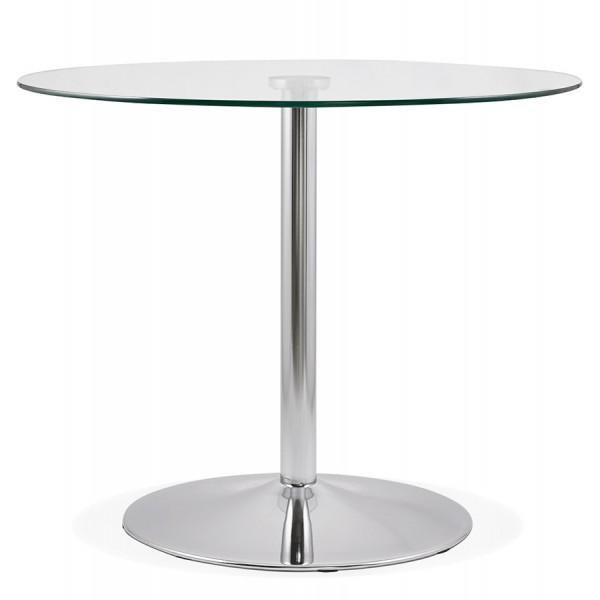 Round Side Table With Glass Top Euka Vistadeco