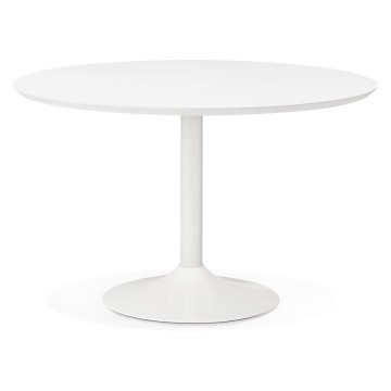 Table BLANCHE ronde multifonction BURO
