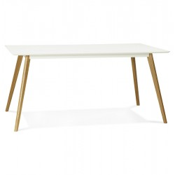 Table scandinave BLANCHE rectangulaire CRUSH