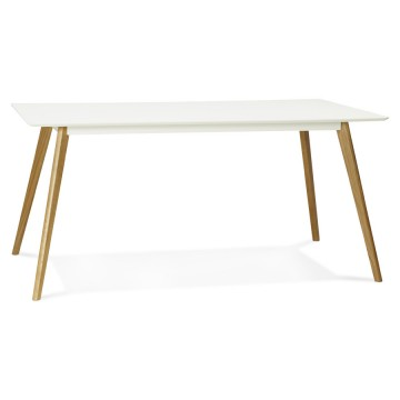 Table scandinave rectangulaire CRUSH (BLANC)