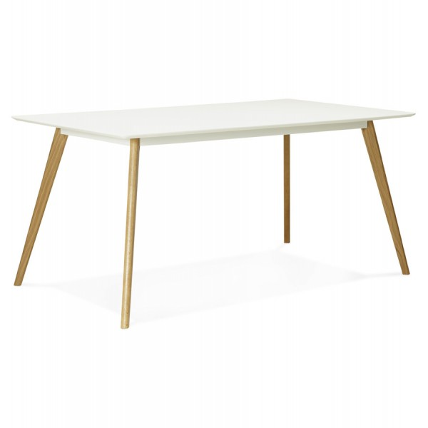 table scandinave rectangulaire crush blanc vistadeco. Black Bedroom Furniture Sets. Home Design Ideas