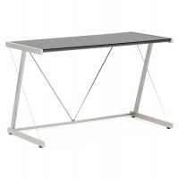 Metal and black glass designed desk