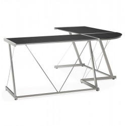 Practictal and design angular desk JUHA (BLACK)