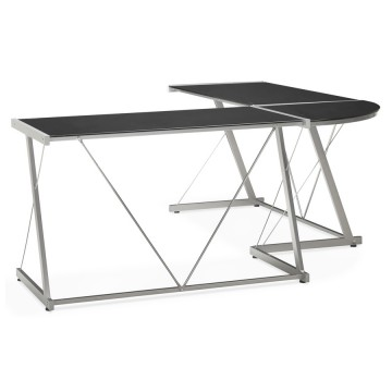 Practictal and design BLACK angular desk JUHA