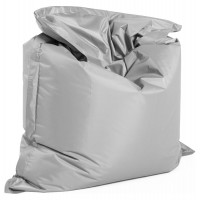 Comfortable and design big format light grey beanbag, with strong cover