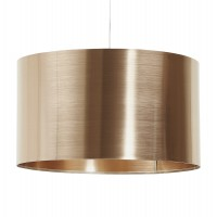 Lampshade in copper-colored metal cylindrical