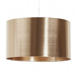 Beautiful cylindrical coppery lampshade TABORA